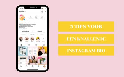5 tips voor een knallende Instagram bio